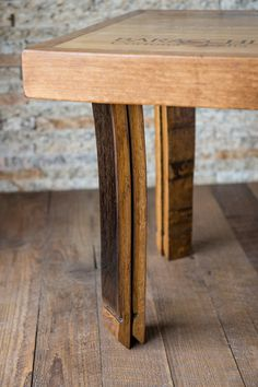 Wine Crate Coffee Table with Barrel Stave Legs by alpinewinedesign