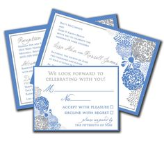 Floral Elegance Wedding Invitation DIY or by lauraleidesign, $25.00