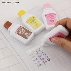 2 x Cute Milky Correction Tape Material Escolar Kawaii Stationery Office School Supplies