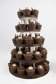 wedding chocolate cupcake