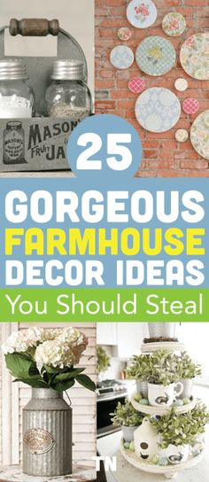 Can we take a minute to appreciate the downright prettiness of farmhouse decor?! I had a total ball putting this list together, to say the …