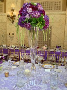 Bridal Bliss Wedding: Elegant purples created by Punch Floral & Styling
