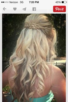 Cute blond hair and a small braid