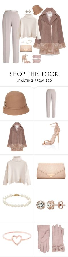 """""""Winter Neutrals"""" by stylebyshannonk on Polyvore featuring Betmar, Chesca, Lost Ink, Chi Chi, Dorothy Perkins, Diamond Splendor, Love Is and UGG"""