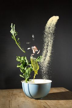 Beautiful Photos Of A Recipe's Ingredients Tossing And Tumbling In The Air - DesignTAXI.com