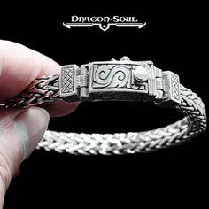 "8.5"" BALI VIKING WEAVE BRACELET STERLING SILVER DRAGON SOUL JEWELRY-CUSTOM CLASP #DragonSoulJewelry #Chain"