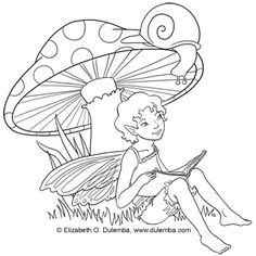 """Freebie: Fairy Digi Stamp.  From """"Stamping"""" at CraftGossip.  Would be fun to embroider"""