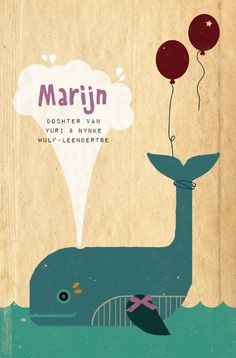 geboortekaartje voor Marijn