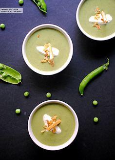 Sopa fría de guisantes a la menta: receta de cocina fácil, sencilla y deliciosa
