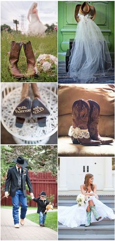 Rustic Country Cowboy Boots Inspired Wedding Ideas #wedding #weddingideas #rusticwedding #countrywedding