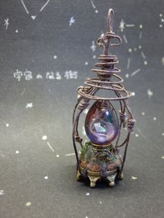 This has a definite steam punk feel to it. Resin Jewelry, Wire Wrapped Jewelry, Jewelry Crafts, Handmade Jewelry, Unique Jewelry, Western Jewelry, Yoga Jewelry, Fairy Jewelry, Magical Jewelry