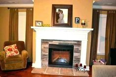 Decoration, Modern Fireplace Mantels Large Decorative Mirrors For Living Room Home Interior Design Ideas For Living Room: Attractive Fireplace Mantel Decorating Ideas 2015 Style Modern Fireplace Mantels, Fireplace Mantel Surrounds, Custom Fireplace, Diy Fireplace, Living Room With Fireplace, Fireplace Design, Stone Fireplaces, Pinterest Home Decor Ideas, Living Room Mirrors