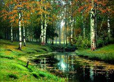 Isaac Levitan - Golden Autumn, oil on canvas
