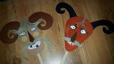 Busó maszkok kartonból by UHUmamu 3rd Birthday, Advent, Origami, Diy And Crafts, Alphabet, Kindergarten, Techno, Costumes, Manualidades
