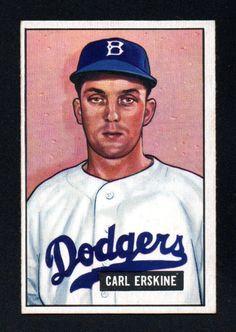 VINTAGE CARL ERSKINE ROOKIE dodgers 1951 BOWMAN #260 EXMT/NRMINT Listing in the Non-Graded,1950-1959,Singles,MLB,Baseball,Sports Cards,Sport Memorabilia & Cards Category on eBid United States