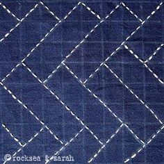 sashiko lesson 2 | Sarah's Hand Embroidery Tutorials. also all other stitches used in different types of embroidery, chicken scratch etc.