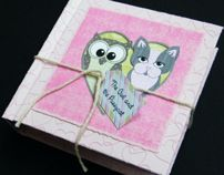 The Owl & The Pussycat Artist Book by Donna Hall, via Behance
