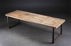 Table legs are made out of hand-milled steel pipe to fit your ...