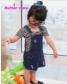 ¥13.41  2 7Y baby girl cotton demin straight  dress blue color spring children kids Jean dress  with hole out fit,High Quality skirt hippie,China jean maxi skirts Suppliers, Cheap skirt from MOTHER  STORE on Aliexpress.com