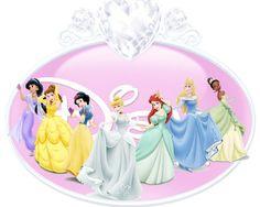 Jasmine, Belle,Snow White, Cinderella, Ariel, Aurora, Tiana