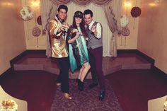 Elvis wedding in Graceland Wedding Chapel Bride : Floriane Caux Photographer : Poppy La'Rue Photography #vegaswedding #jeffreycampbell #glitter #lasvegas