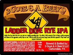 3 Guys & a Beer'd Ladder Dive Rye IPA 12oz Bottles