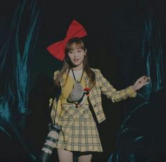 chuu┊͙ loona South Korean Girls, Korean Girl Groups, Yellow Skirt Outfits, Chuu Loona, Singing In The Rain, Love My Kids, Olivia Hye, Sooyoung, Her Smile