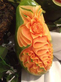 Papaya Carving
