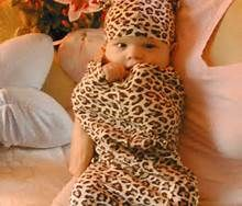 Baby girls couldn't get any cuter until u put them in leopard