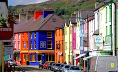 Colourful houses at Llanberis