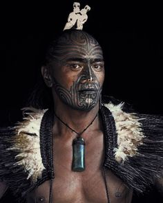 Maori tribe warrior - New Zealand From the series: Before they pass away by Jimmy Nelson