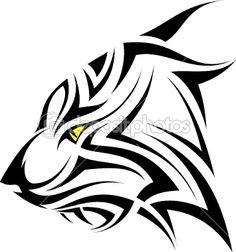 Vector tiger tattoo