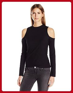 Jack by BB Dakota Women's Gretal Fitted Cold Shoulder Long Sleeve Rib Top, Black, X-Small - All about women (*Amazon Partner-Link)