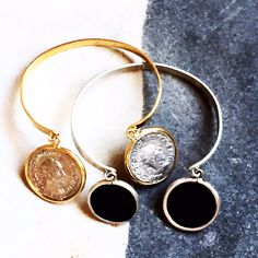 Kiaia collection Ancient roman coins in gold and silver bracelet Ancient Roman Coins, Ancient Romans, Gold And Silver Bracelets, Alex And Ani Charms, Collection, Jewelry, Coins, Bangles, Jewlery