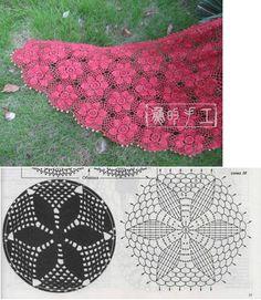 crochet lacy hexagon flowery motif!