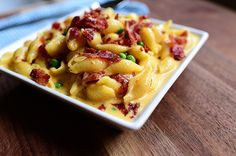 ~ Shells & Cheese (with bacon & peas)
