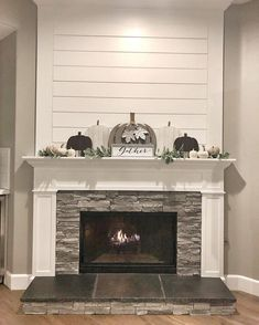50 Beautiful Farmhouse Fireplace Mantel Decorations That Will Make You More Comfort