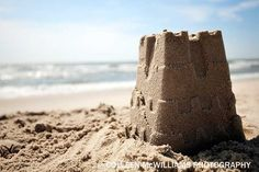 Lone Sand Castle & The Ocean 9x6 Color Fine Art by JohnAndColleen, $25.00