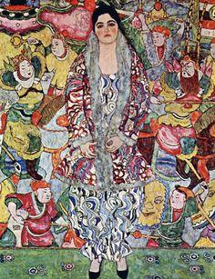 Gustav Klimt - Portrait of Frederika Maria Beer - 1916 Oil on canvas 168 × 130 cm Tel Aviv Museum of Art