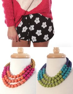 Early Spring '14 style from ShopRiffraff.com! Pops of color, polka dots, geometric prints, florals, and statement necklaces!