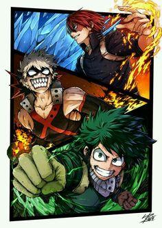 "Midoriya ""Deku"" Izuku, cool, electricity, Quirk; My Hero"