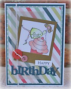 Birthday card Stamping Bella stamp