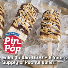 It does get better than chocolate and peanut butter! The Little Epicurean proves that coconut deserves a place alongside the beloved duo. Get the recipe for Chocolate Coconut Peanut Butter Pops and enter the Pin-A-Pop Sweepstakes here: www.pinapopsweeps.com