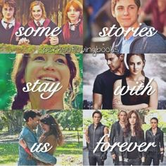 Harry Potter, Percy Jackson, Hunger Games, Divergent, Beautiful Creatures, Mortal Instruments
