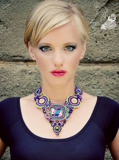Charme de l'Orient Necklace Unique Soutache by DivaByBazu on Etsy, $279.90