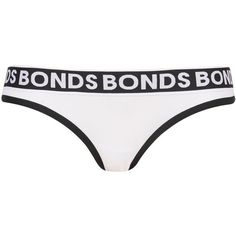 Monochrome Bikini Knickers by Bonds (€16) ❤ liked on Polyvore featuring intimates, panties, monochrome, topshop bikini, underwear bikini and cotton bikini