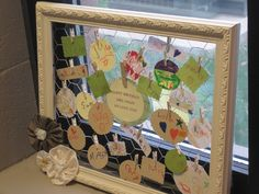 Chicken wire frame as a gift from students --- could use pictures instead of names