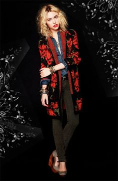 Free People Floral Cardigan #Nordstrom #AugustCatalog