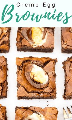 These Creme Egg Brownies taste just as incredible as they look! They're also gluten free & vegetarian but without compromising on flavour. Ultimate Chocolate Brownie Recipe, Best Chocolate, Brownie Recipes, Chocolate Recipes, Brownie Ideas, Chocolate Brownies, Fun Easy Recipes, Easy Desserts, Dessert Recipes