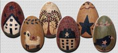 free primitive images to paint on wood | primitive wood eggs buy now primitive eggs are painted in a country ...